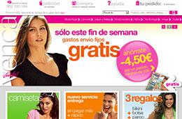 Gastos de envío gratis durante este fin de semana para compras superiores a 50€ en toda la tienda de moda Venca
