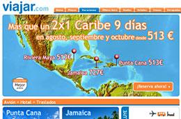 Chollos de viajes y vacaciones a Caribe, Riviera Maya, Jamaica y Brasil Todo Incluido