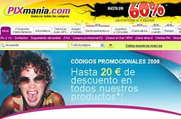 Codigos promocionales Pixmania y codigos descuento para tener un descuento adicional del 4% en Pixmania.com en Agosto 2009