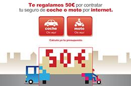 'Ofertas seguro coche y moto en Linea Directa con 50 euros de descuento adicional en Agosto