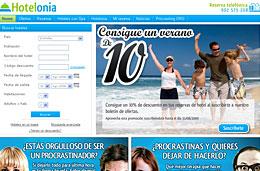 10% de descuento en las reservas en hoteles para todos aquellos que se suscriban al boletín de ofertas de Hotelonia