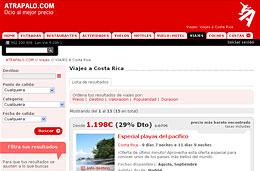 Ofertas de viajes a Costa Rica con un descuento adicional de 5%