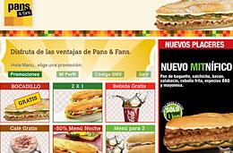 Consigue un bocadillo gratis y muchas otras ofertas uniéndote a los fans de Pans&Company