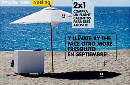 Vueling 2x1 con ofertas de vuelo para reservas en agosto y tener vuelo gratis a partir de septiembre