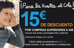 Codigo promocional Kiabi de 15€ de descuento para compras superiores a 40€