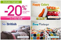 Codigo promocional La Redoute y codigos descuentos en LaRedoute.es para la coleccion Textil y Deco