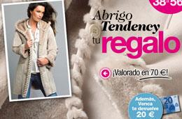 Abrigo Tendency gratis en Venca pagando únicamente los gastos de envío y con 20€ de descuento para futuras compras