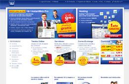 1 año gratis de hosting 'Todo Incluído' en 1&1 con dominios gratis, hosting multidominio y tráfico web ilimitado
