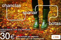 Chollos vuelos de Spanair a todos sus destino desde 30€