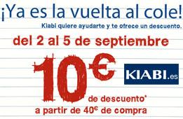 Codigo promocional Kiabi con 10€ de descuento en su Vuelta al cole