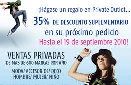 Codigo descuento web Private Outlet