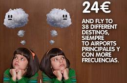 Vuelos economicos con Vueling: Billetes baratos a 24 euros