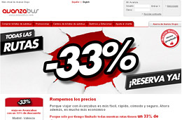 Ofertas de autobuses con un 33% en todas las rutas reservando con AvanzaBus