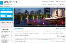 Codigos promocionales y codigos descuento para Splendia.com portal de hoteles de lujo