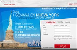 Concurso de 1 viaje a Nueva York, 4 iPad, entradas y bonos de 1000€ para el outlet Piustyle