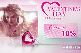 Codigo descuento Swarovski especial San Valentin de un -10%.