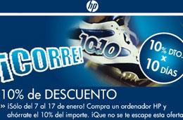 Ofertas en ordenadores HP con un 10% de descuento de reembolso en vuestras compras por tiempo limitado