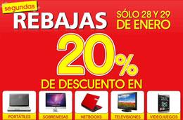 Segundas Rebajas en PC City con un 20% de descuento adicional sólo los días 28 y 29-Enero-2011