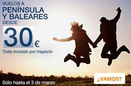 chollos para volar desde 30€ con las ofertas de spanair