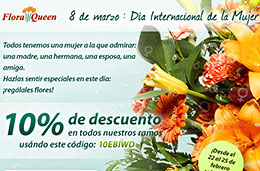 Codigo descuento FloraQueen de un 10% de ahorro