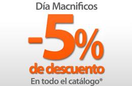 Codigo promocional Macnificos de un 5% de descuento