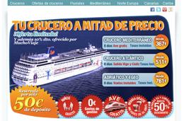 Cruceros con descuentos de hasta el 67%, todo incluído y con niños gratis desde 367€ en MuchoViaje