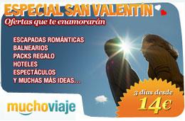 Ofertas de viajes para San Valentín desde 14€ en MuchoViaje