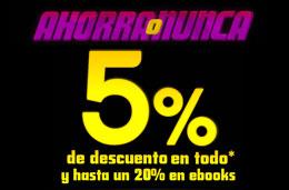 Ahorra o Nunca en PC City con un 5% de descuento adicional en todo y hasta un 20% en eBooks