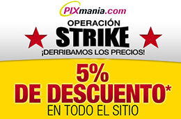 Codigo promocional Pixmania con su 'Operación Strike' y un 5% de descuento en toda la web durante 3 días