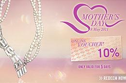 Codigo promocional Swarovski en el Dia de la Madre con un 10% de descuento para compras superiores a 125€
