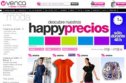 Ofertas en Venca con sus Happy Precios durante 48h y descuentos de hasta el 80%