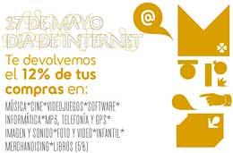Ofertas especiales en Fnac para celebrar el Día de Internet hoy 17 de Mayo con un 12% de reembolso y envío gratis