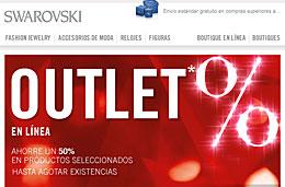 Outlet Swarovski con rebajas de hasta el 50% y hasta fin de stock