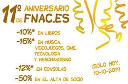 Aniversario Fnac con descuentos de hasta el 16% en toda su web