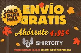 Codigo promocional en Shirtcity para tener gastos de envío gratis