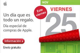 Black Friday de Apple, lleno de ofertas en la AppleStore sólo el 25-Noviembre-2011