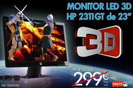Codigo promocional HP de -100€ al comprar el monitor LED 3D HP 2311GT de 23 con un ordenador HP Pavilion HPE H8
