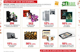 Cheques regalo en Fnac y descuentos especiales el día de Navidad