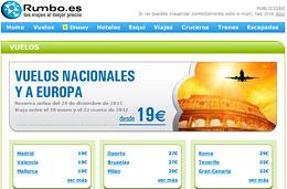 Ofertas de vuelos nacionales y a Europa desde 19€ para volar la primavera de 2012
