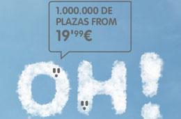 Chollos en Vueling desde 19€ con más de 1.000.000 de vuelos disponibles por tiempo limitado