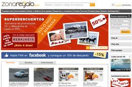 Codigo promocional en ZonaRegalo.com de un 15% de descuento adicional en toda la web
