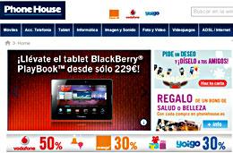Cupon descuento en The Phone House para tener -100€ en el tablet BlackBerry Playbook