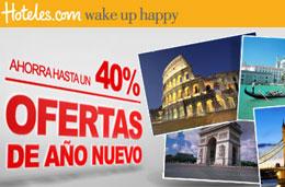 Ofertas de Año nuevo en Hoteles.com con descuentos de hasta el 40% en todo el mundo
