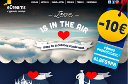 Codigo promocional en eDreams para tener 10€ de descuento en reservas de vuelos