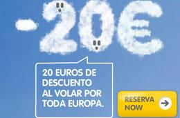 Codigo descuento para Vueling.com para viajar a Europa