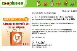 Ofertas especiales de fin de semana en la tienda Zooplus