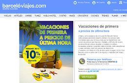 10% descuento Barceló Viajes, precios última hora