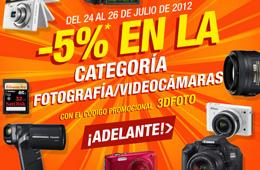 Codigo promocional Pixmania durante 3 días para su sección fotografía y videocámaras