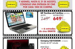 La tienda online de HP regala entradas de cine por cada 100€ de compra