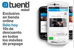 Ofertas en Tuenti Móvil durante 24h con 10€ de descuento en todos sus móviles de prepago